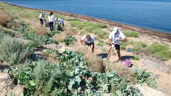 Переселение животных и растений с места строительства моста Тамань-Керчь