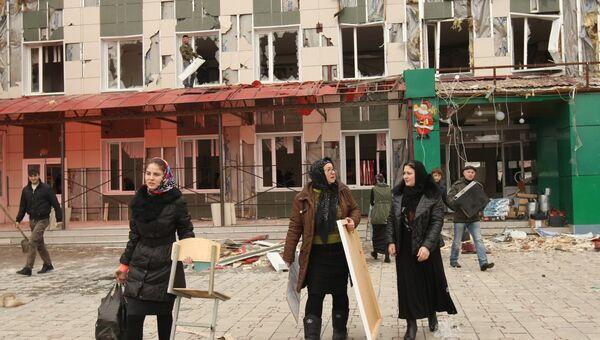 Ликвидация последствий нападения боевиков в Грозном