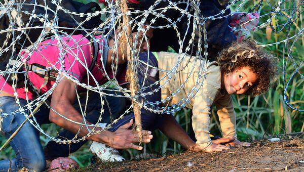 Беженцы из Сирии на границе с Евросоюзом
