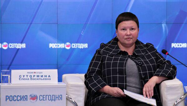 Елена Сутормина на пресс-конференции в МИА Россия сегодня в Крыму