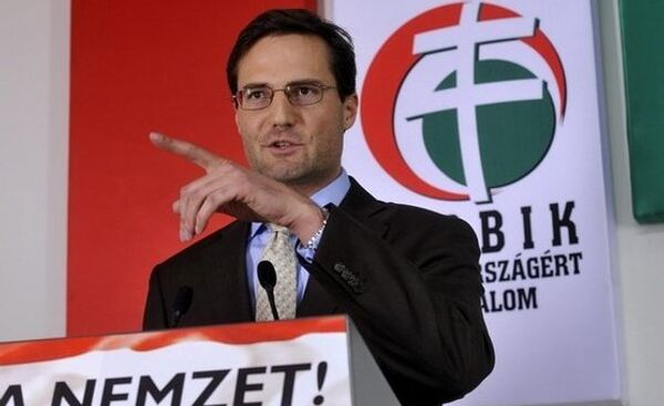 Глава венгерской партии Йоббик Мартон Дендьеши