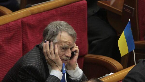 Мустафа Джемилев на заседании Верховной Рады в Киеве