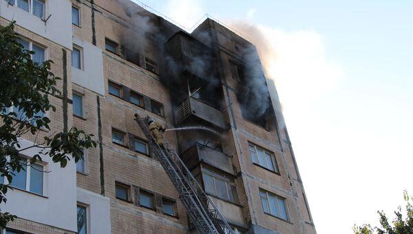 Пожар в симферопольской многоэтажке