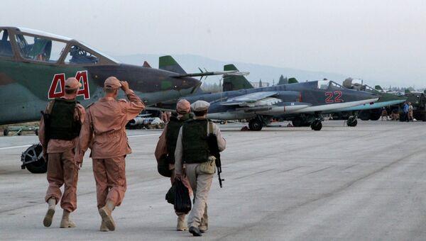 Российская боевая авиация на аэродроме около Латакии