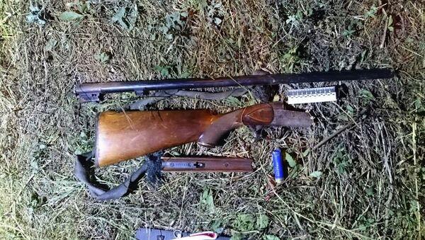 Ружье, найденное рядом с телом Бекира Небиева, обвиняемого в расстреле медиков скорой в Симферополе