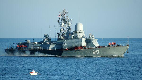 Малый ракетный корабль Мираж Черноморского флота России в Севастополе
