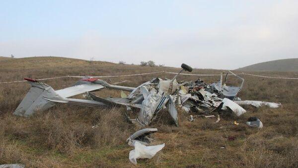 Обломки упавшего под Коктебелем самолет Сessna 336