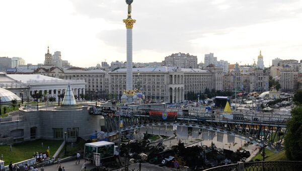 Палаточный лагерь на площади Независимости в Киеве