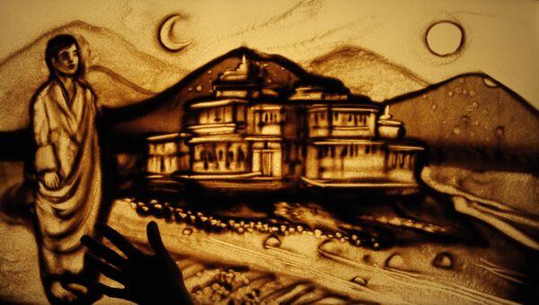 Картина на песке Ксении Симоновой