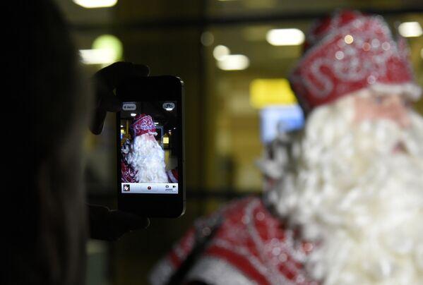 Прилет Деда Мороза в Крым