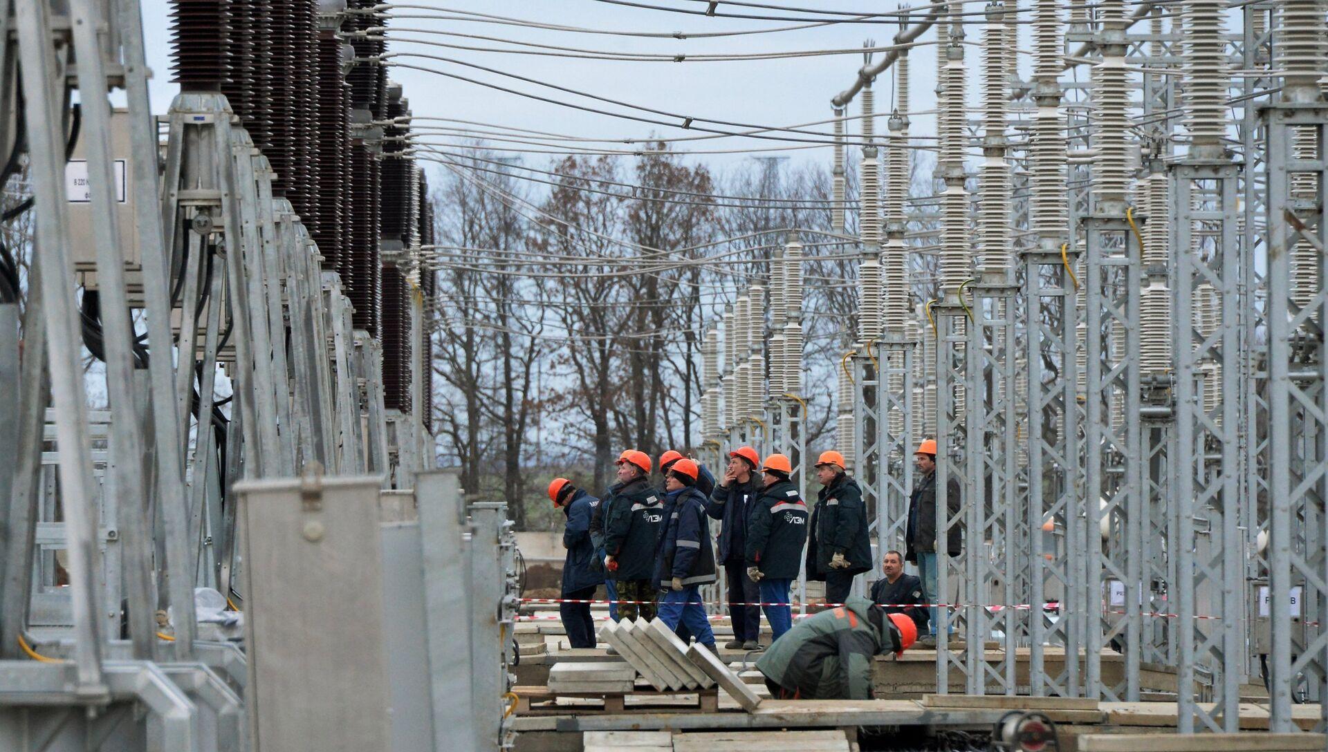 Строительство энергомоста через Керченский пролив - РИА Новости, 1920, 11.05.2017