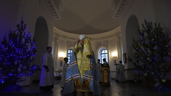 Рождественское навечерие в соборе св. Александра Невского в Симферополе