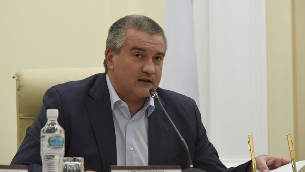 Председатель Совета министров Крыма Сергей Аксенов на заседании Совета министров Крыма