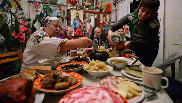 Празднование Рождества в деревне Погост