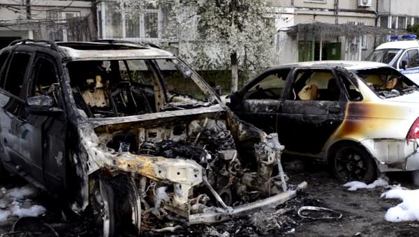 Сгоревшее авто, г. Керчь
