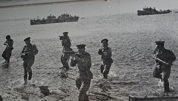 Форсирование Сиваша в апреле 1944 года (из экспозиции Центрального музея Тавриды)