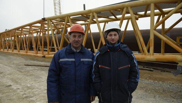 Строительство моста через Керченский пролив. Отец и сын: Василий Иванович и Андрей Кравченко.