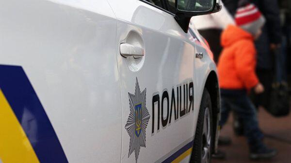 Автомобиль полиции. Украина