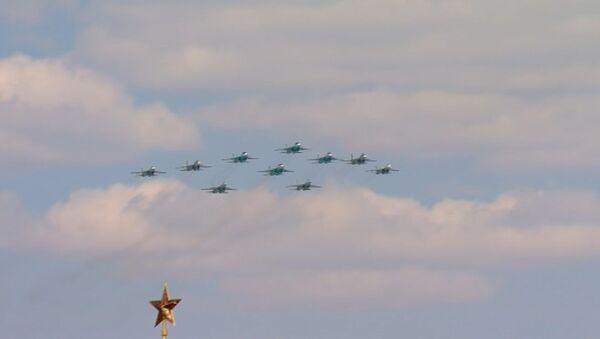 Авиация на параде Победы в Москве: Су-35С, Ту-95МС, Су-27 и Ми-26