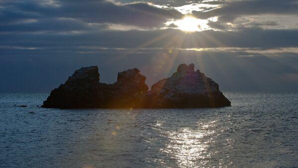 Черное море у поселка Утес в окрестностях Алушты