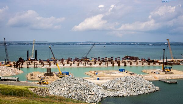 Строительство моста через Керченский пролив
