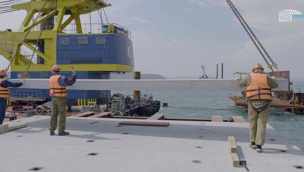 Строители возвели второй рабочий мост через Керченский пролив