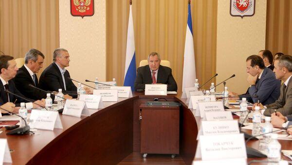 В Симферополе состоялось совещание о загрузке предприятий ОПК под руководством Дмитрия Рогозина