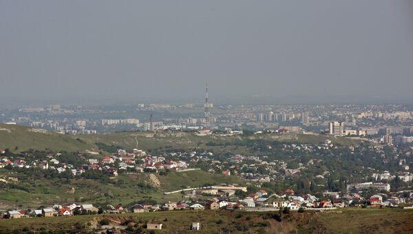 Крым с высоты птичьего полета. Симферополь