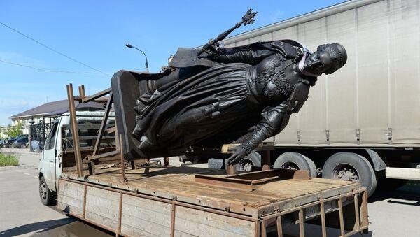 Отправка памятника Екатерине II в Крым