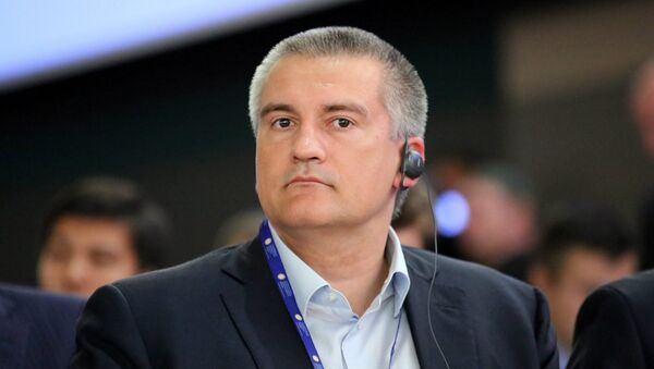Глава Республики Крым Сергей Аксенов на Петербургском международном экономическом форуме