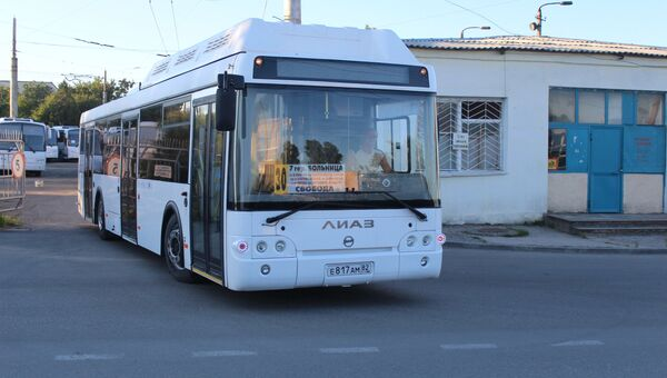 Десять новых ЛиАЗов наконец вышли на симферопольские улицы