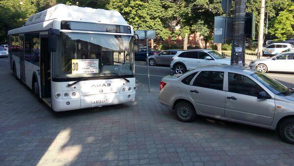 Второй из десяти новых автобусов попал в ДТП в Симферополе