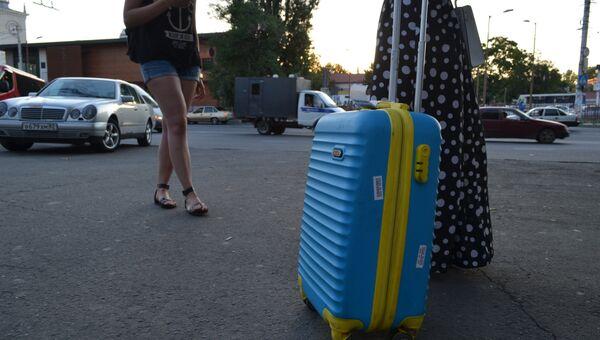 Украинские туристы в Крыму