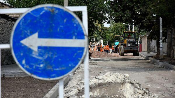 Ремонт дороги в Симферополе. Архивное фото