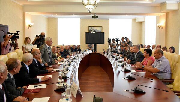 Делегация из Иордании. Встреча в Совете министров Республики Крым