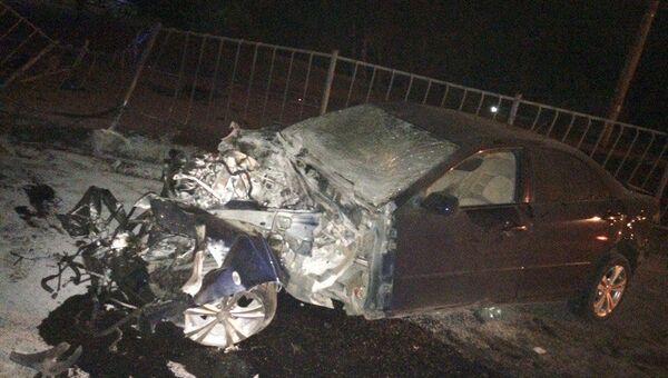 Ночное ДТП в Симферополе с участием автомобиля Mazda-6