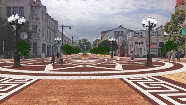 Скриншот из презентации реконструкции ул. Карла Маркса и ул. Пушкина в Симферополе