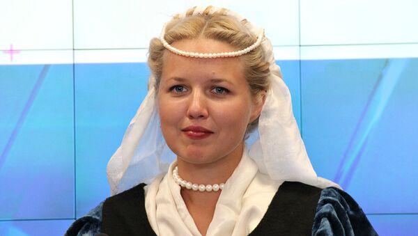 Участница средневековой площадки Крымского военно-исторического фестиваля Екатерина Фарисей-Ермакова