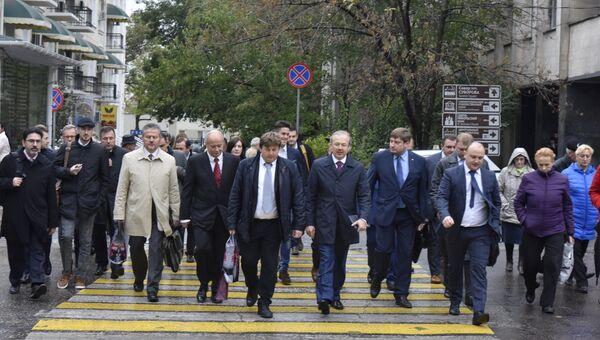 Визит делегации депутатов итальянских региональных советов и представителей делового сообщества Италии в Симферополь