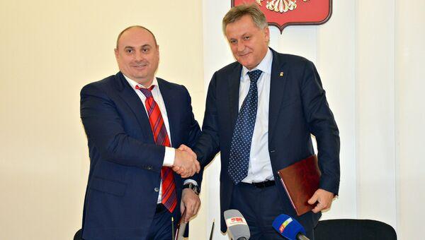 Подписание соглашения о сотрудничестве между Симферополем и Махачкалой