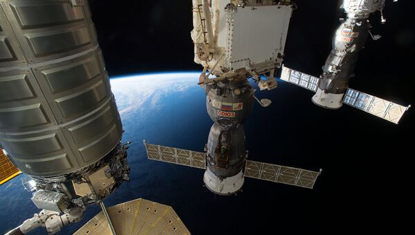 Вид из иллюминатора МКС