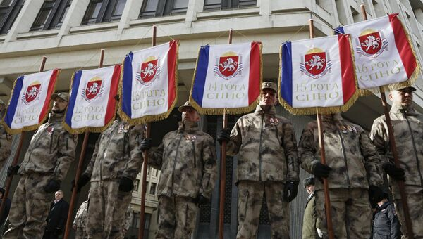 Бойцы Народного ополчения Крыма