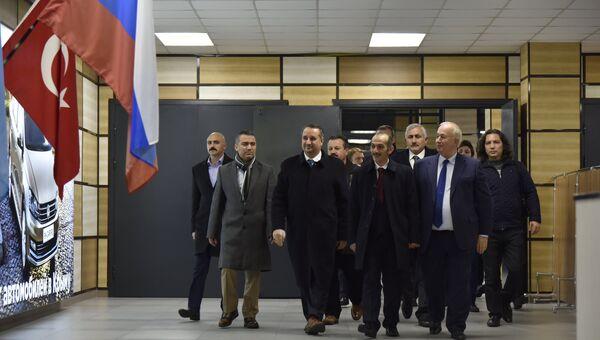Прибытие в Крым делегации из Турции
