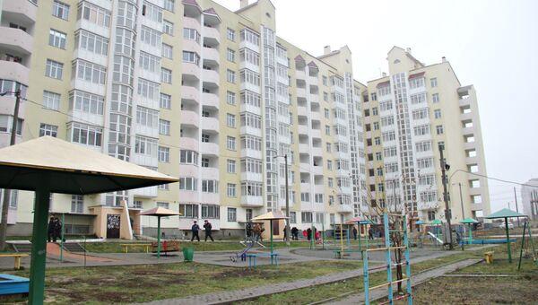 Дом в Симферополе, в котором получили квартиры семьи из числа реабилитированных