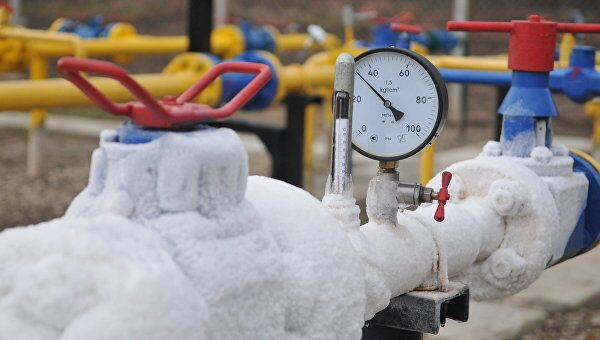 Газоснабжение зимой