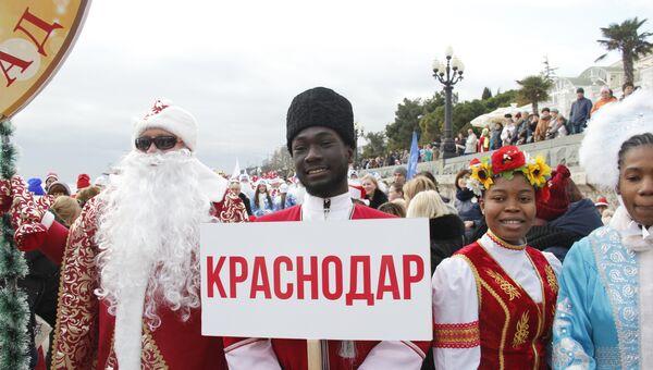 В Ялтинском Мороз-параде приняли участие 600 участников из Крыма, Севастополя и Краснодара