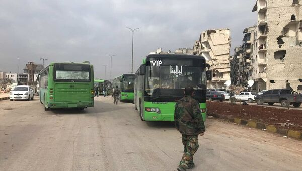 Вывод боевиков и членов их семей из восточного Алеппо