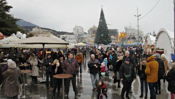 Рождественские гуляния в Ялте