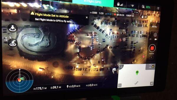 Автомобильный флешмоб в Симферополе в честь Дня Республики Крым