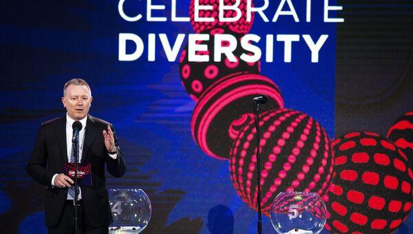 Исполнительный директор песенного конкурса Евровидение Йон Ола Санд на церемонии жеребьевки международного конкурса Евровидение-2017 в Киеве